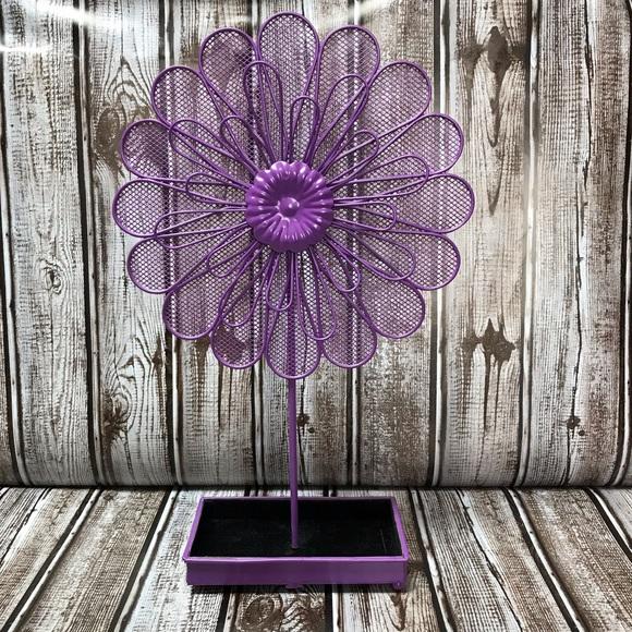 Storage Organization Purple Flower Earring Jewelry Holder Poshmark
